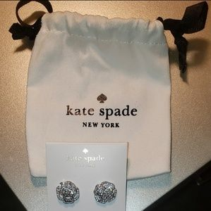 *NOT FOR SALE* Kate Spade pave rose earrings